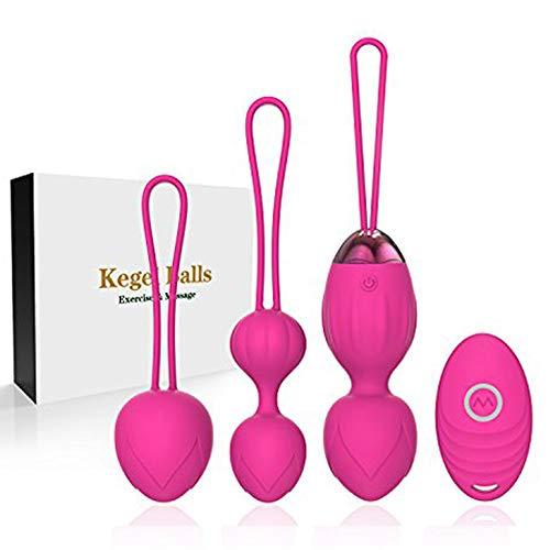 2 in 1 Kegel Pesi per esercizi Ben Wa Set di palline Kegel Balls per donne Principianti e piacere - Medico consigliato per il controllo della vescica e esercizi per il pavimento pelvico (Rosa)